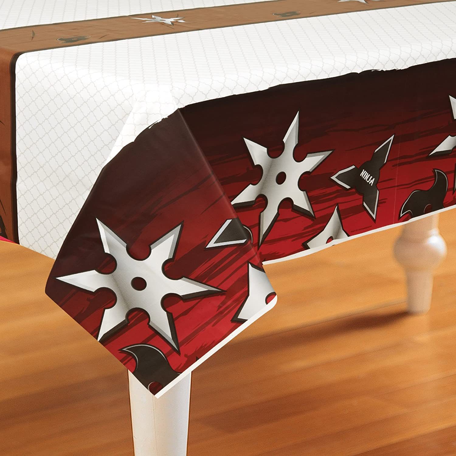 Creative Converting Ninja Warrior Party Supplies - Plastic Table Cover