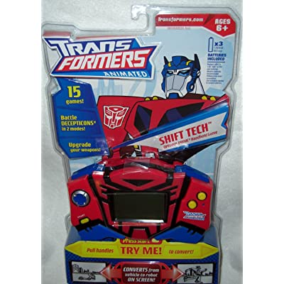 Transformers Handheld Game with Optimus Prime: Toys & Games