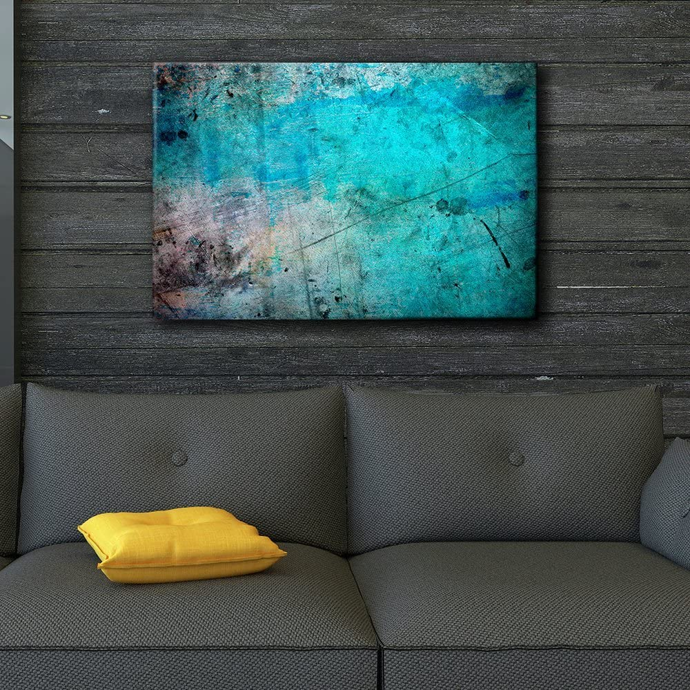 Lovely Artistry, Blue and Splatter Ink Watercolor Paint Background Abstract Rustic, Original Creation