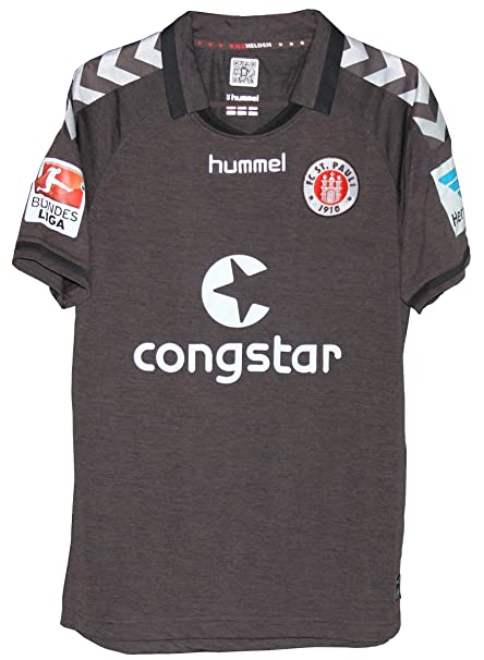 736393c9c2e Amazon.com : FC St Pauli Hamburg 2014-15 Hummel Home Jersey Brown ...