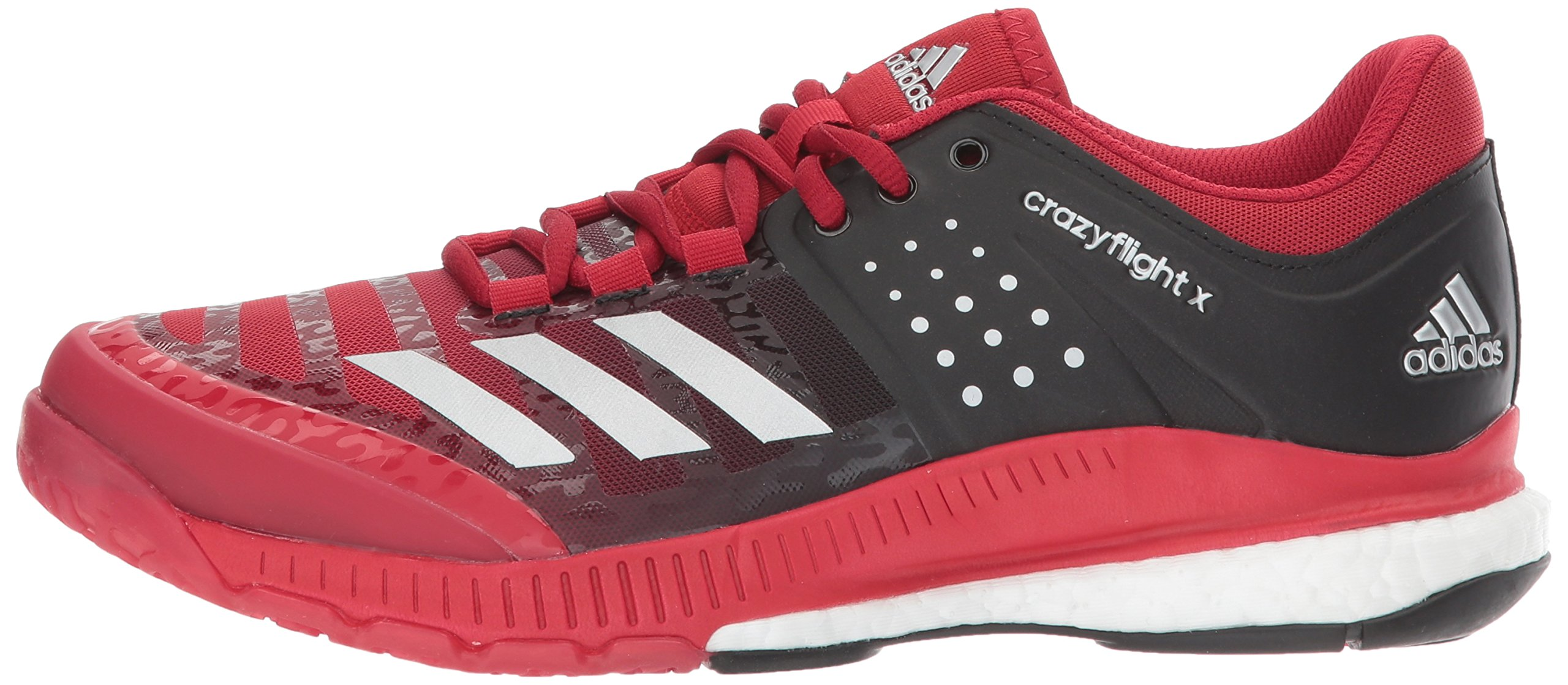 Adidas Women's Shoes Crazyflight X Volleyball Shoe Black/Metallic Silver/Power Red,7.5 by adidas Originals (Image #5)