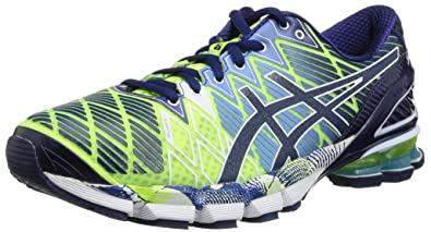 check out ed392 3bc26 Asics Women s GEL KINSEI 5 Running Shoes, Blue White Emerald Green, ...