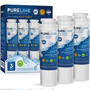 GE MSWF Certified Premium Water Filter Replacement. Designed to Exact Fit & Compatibility as the Original GE MSWF Filter. - PURELINE (3 Pack)