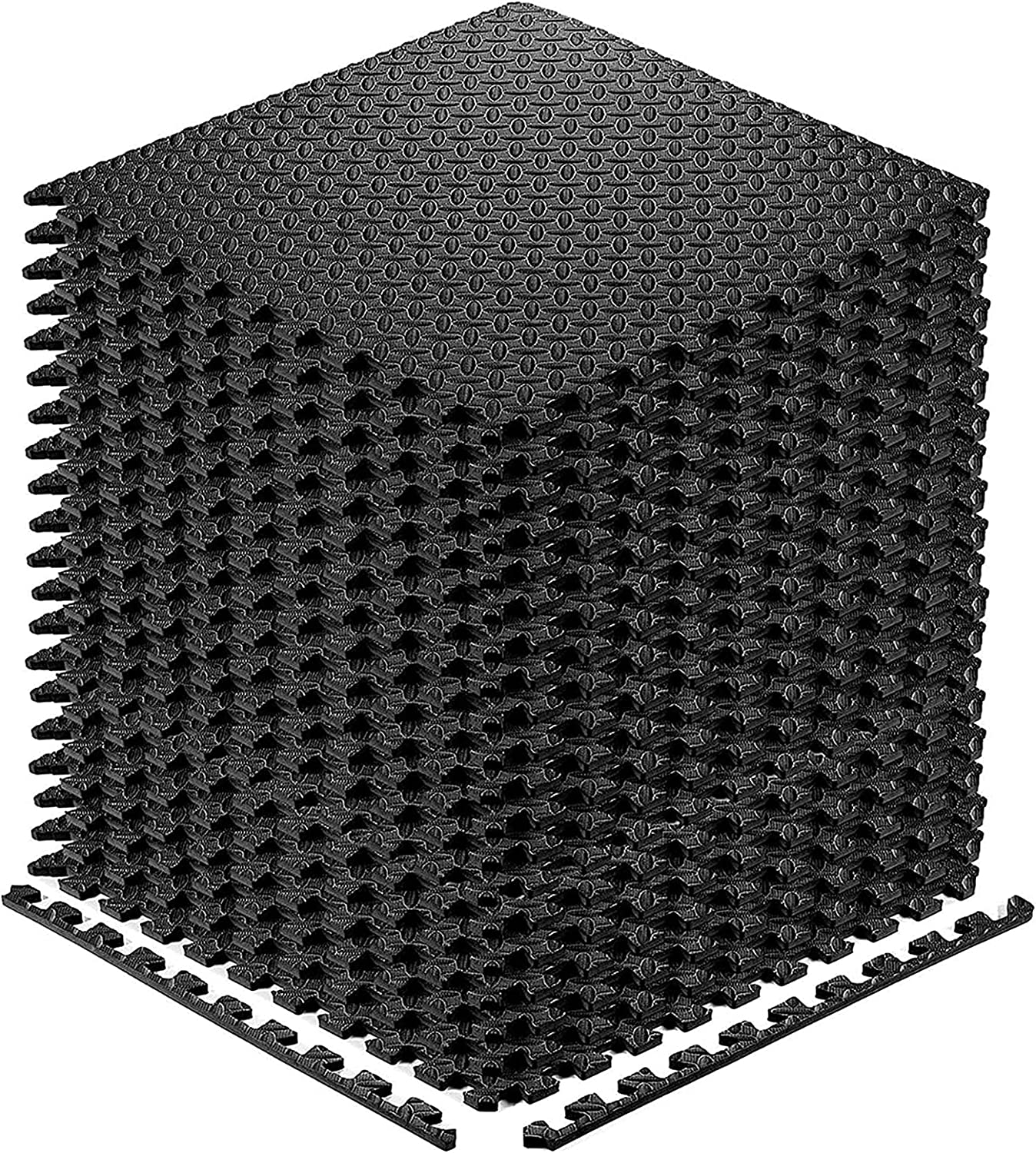Puzzle Exercise Floor Mat, EVA Interlocking Foam Tiles Exercise Equipment Mat Workout Mats flooring for Home Gym 20 Square Feet Gym Floor Mats for Gyms, Yoga, Workout