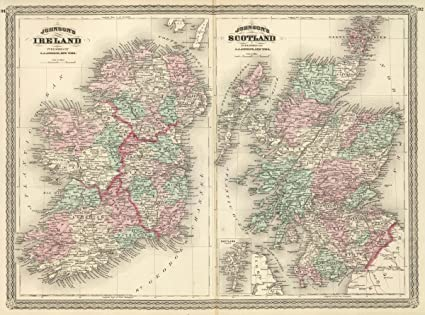 Amazon historic pictoric 1874 world atlas johnsons ireland historic pictoric 1874 world atlas johnsons ireland published by a j johnson new york gumiabroncs Image collections