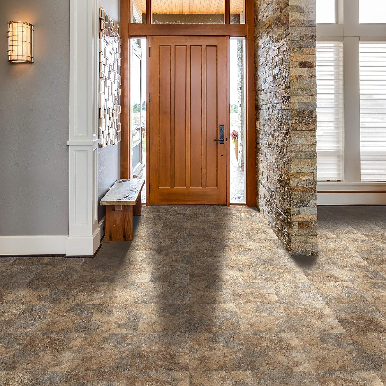 Achim Home Furnishings FTVMA45420 Natural Clay Nexus x 12 Self Adhesive Vinyl Floor Tile-20 Tiles/20 sq. ft