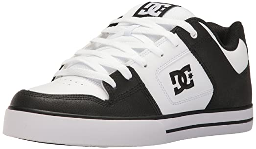 DC Shoes Men's Pure M Low Top Shoes White Black (XKWK) 8