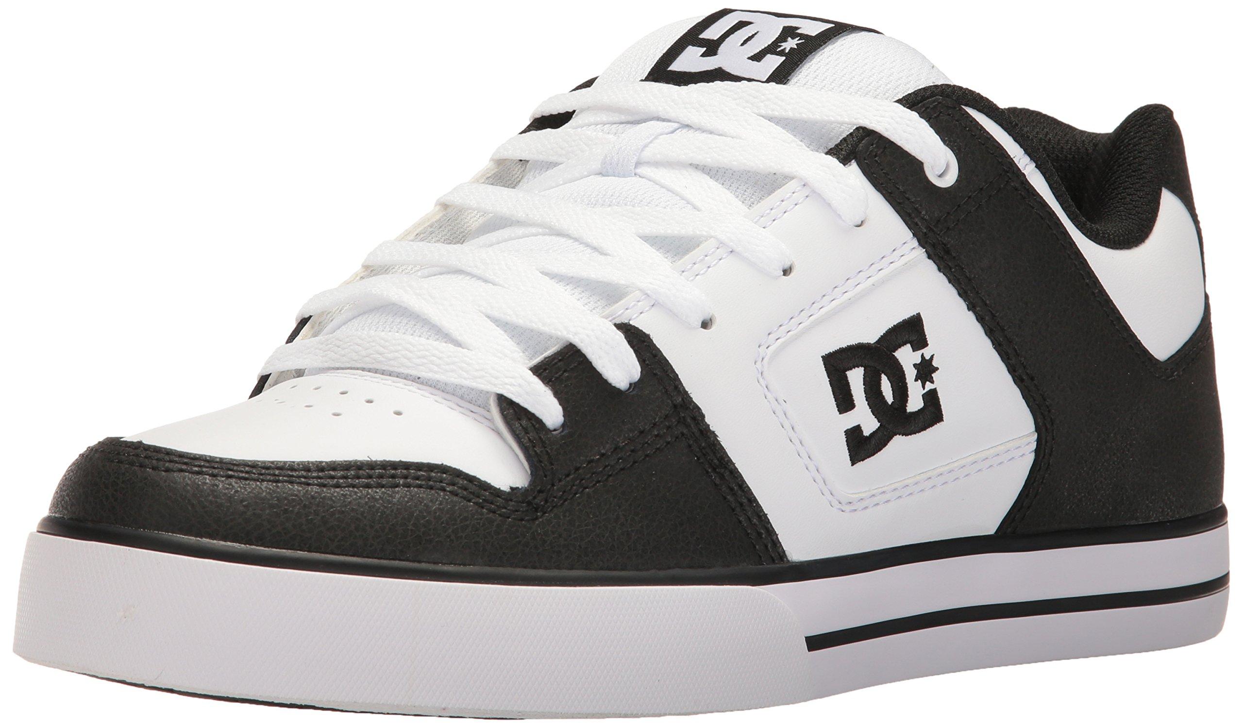 DC Men's Pure Shoes,Black/White/Black,6 D US