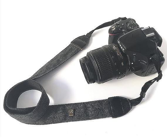 Dragonne Sony...... sangle  en cuir Marron et nylon pour Canon Nikon Pentax