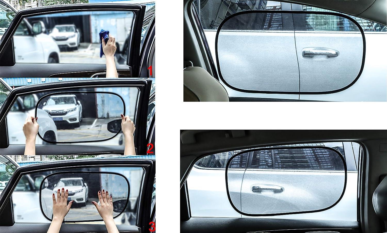 Erwachsene f/ür Kinder COM4SPORT Auto-Sonnenschutz 80 g//m/² f/ür maximalen UV-Strahlen 50,8 x 30,5 cm Haustiere Sonnenschutz f/ür Seiten- und Heckscheiben statisch haftend Babys 4 St/ück