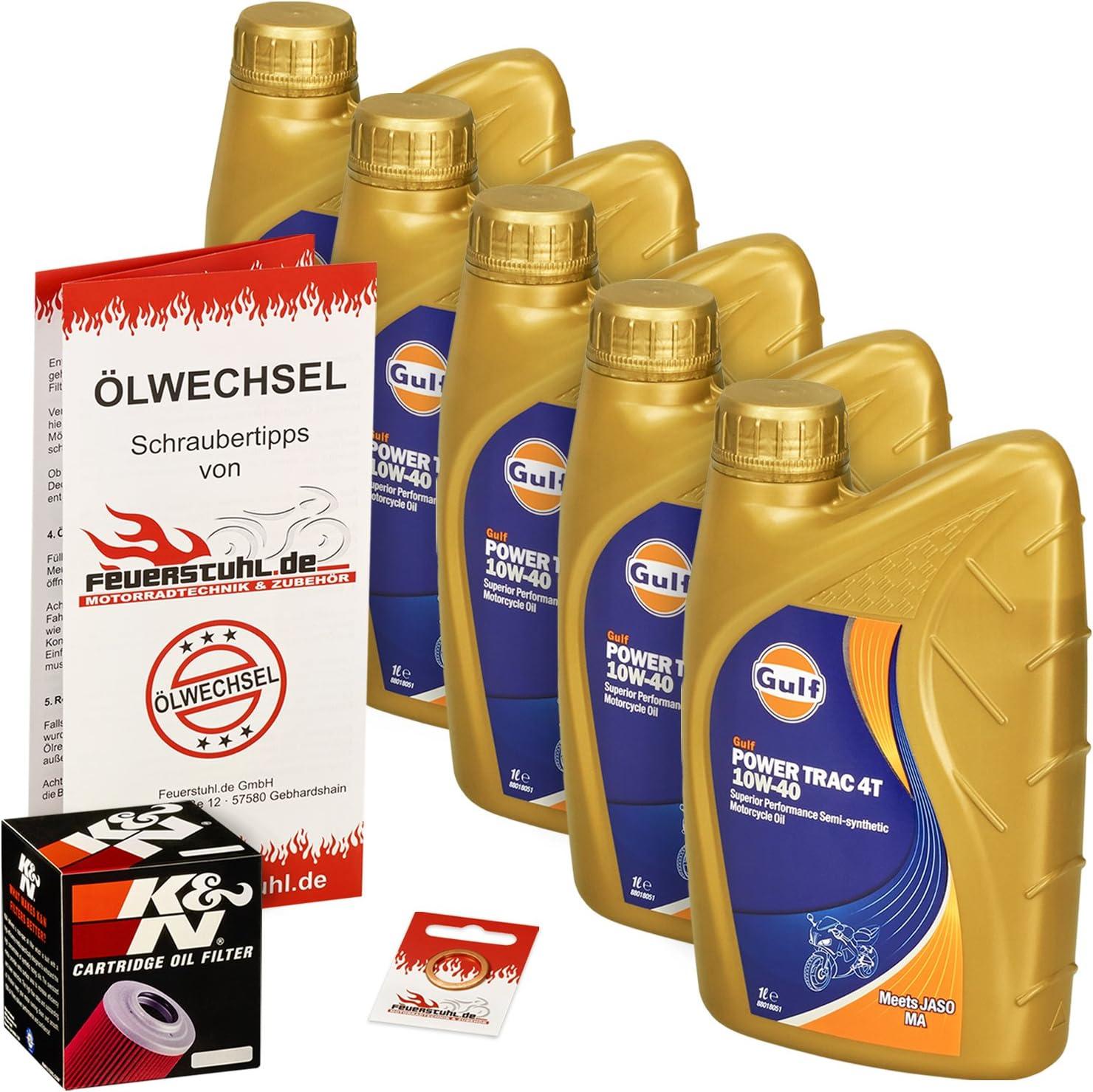 Gulf 10w 40 Öl K N Ölfilter Für Honda Cb 1100 F Super Bol D Or 83 84 Sc11 Ölwechselset Inkl Motoröl Filter Dichtring Auto