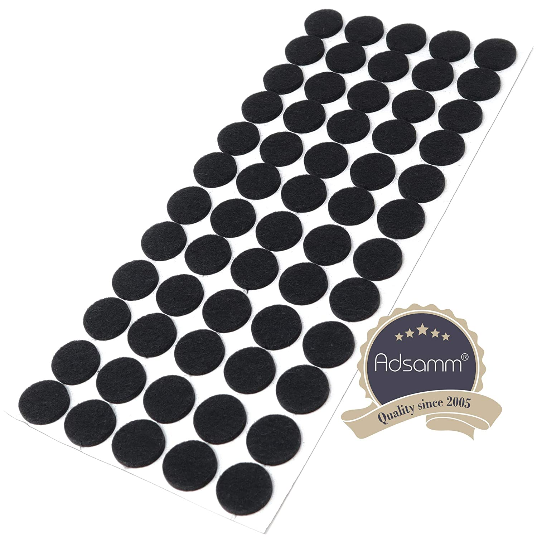 300 x Filzgleiter///Ø 20 mm//Schwarz//rund Adsamm/® 3.5 mm starke selbstklebende Filz-M/öbelgleiter in Top-Qualit/ät