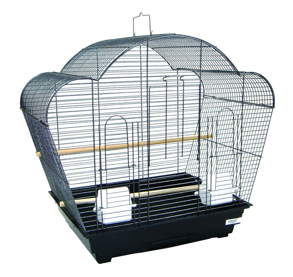 YML A1954 1/2-Inch Bar Spacing Shell Top Small Bird Cage, 20-Inch by 16-Inch, White A1954WHT