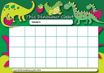 Sticker solutions a4 dinosaur reward chart with 25 stickers amazon