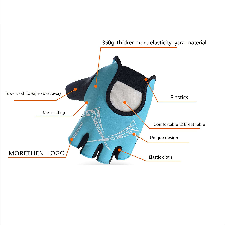 Reduce-numbness Cycling Gloves Half Finger Gel Pad for Men Women Absorb-shock Fitness Gloves Abrasion-proof Skip-proof Breathable
