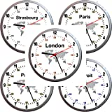 Eco Recycled Dual Time Zone Classic Wall Clock with Chalk Amazon