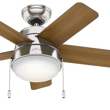 Hunter Fan 36 inch Modern Ceiling Fan with LED Light in Brushed Nickel (Renewed) - - Amazon.com