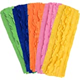 Xanitize Fleece XL Sweeper Mop Refills for Swiffer X-Large - Reusable, Dry Duster, for Hardwoods, Laminates - 5-pack Rainbow