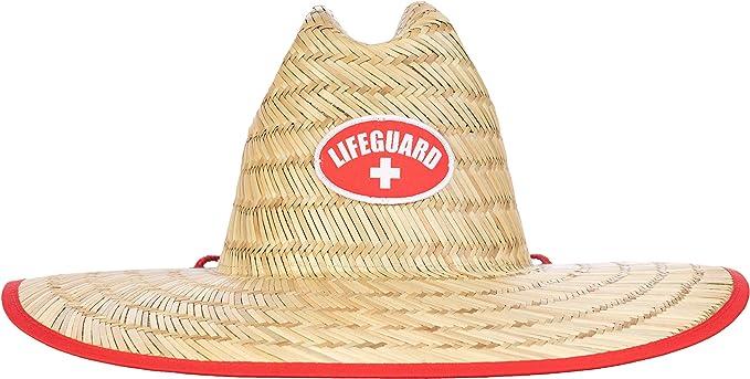 Amazon.com: Lifeguard Sombrero de paja | Profesional de la ...