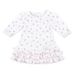 Magnolia Baby Baby Girls Adalyn's Classics Printed Dress Set Pink (3 Months)