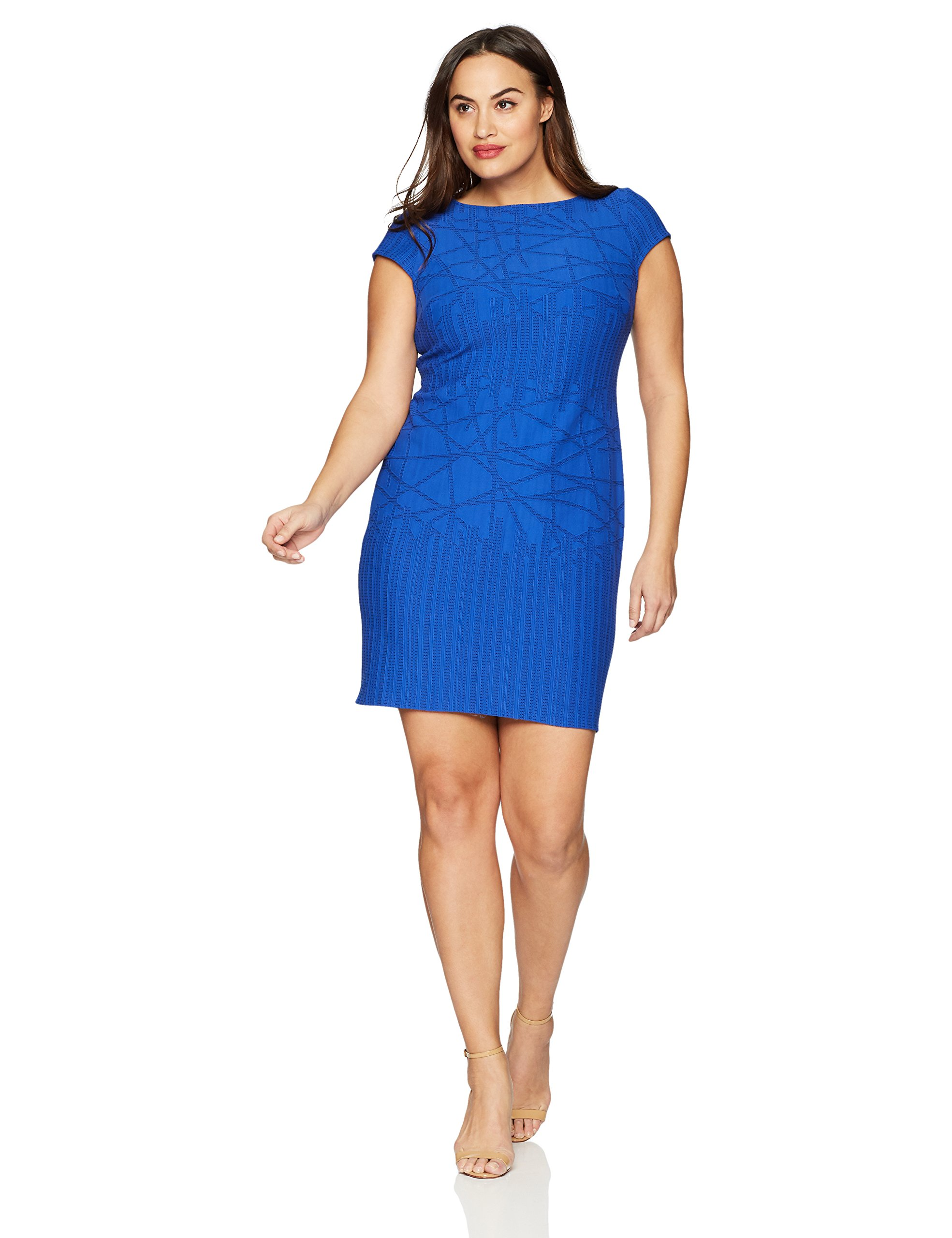Julia Jordan Women's Plus-Size Cobalt Dress, 24W