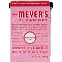 MRS MEYERS Soy Candle, Peppermint, 4.9 Ounce