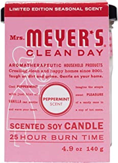 product image for Mrs. Meyer's Clean Day Scented Soy Candle, Small Glass, Peppermint, 4.9 oz