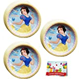 Snow White Birthday Party Lunch Plates Bundle Pack of 24