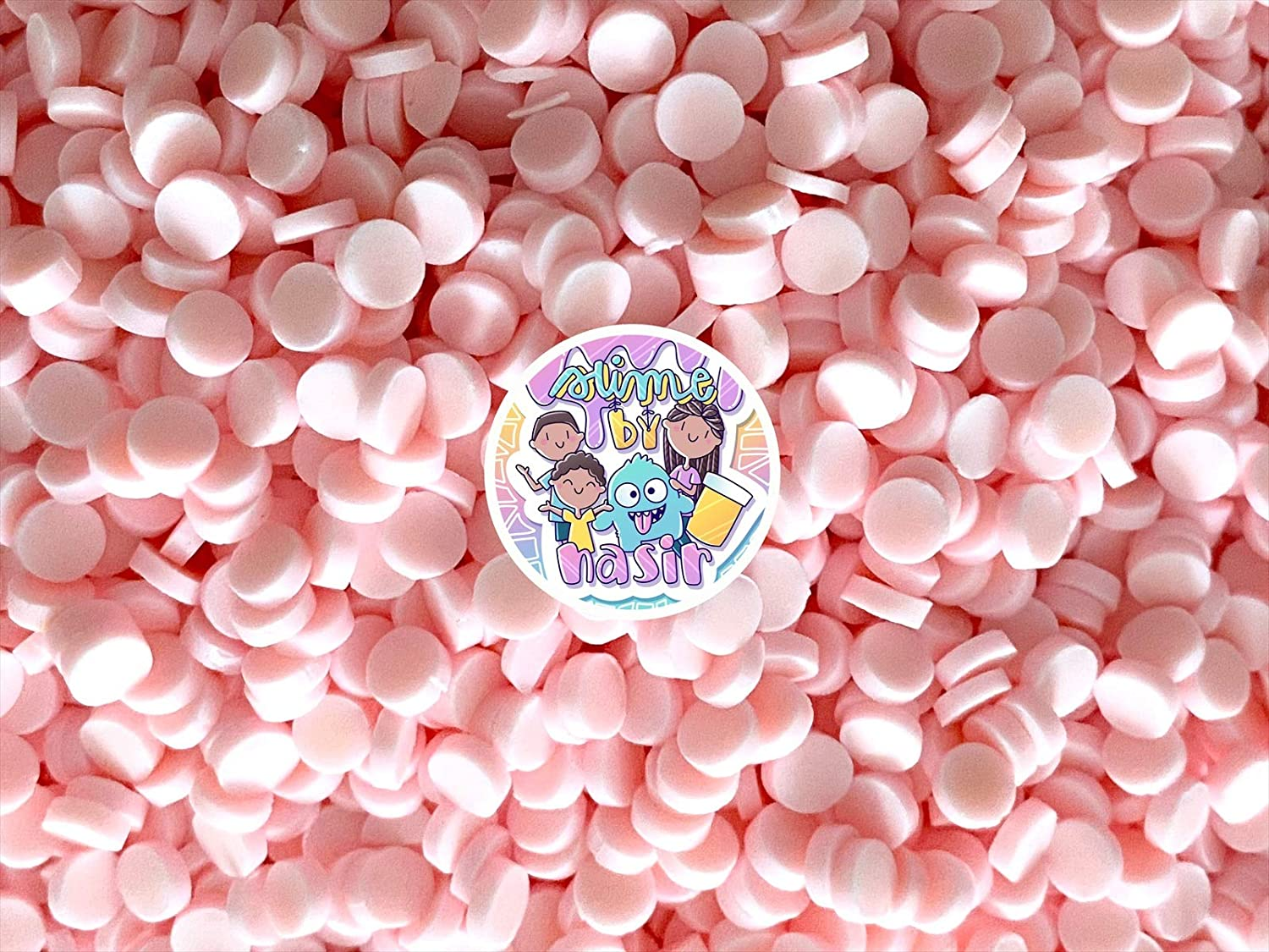 50g Colorful Fake Candy Sweets Sugar Crystals Sprinkles Decoden Resin Cabochons Decorations for Fake Cake Dessert Simulation Food Fake Dessert Polymer Clay (Baby Pink Clay Confetti Circles)