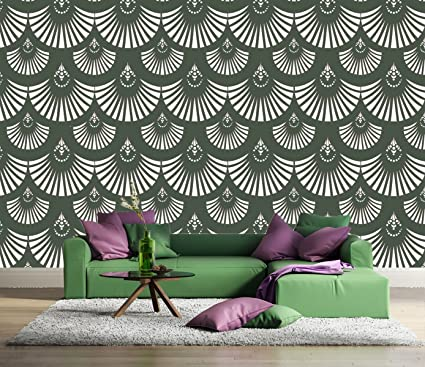 Kayra Decor Vinyl Reusable Wall Stencil for Wall-Decor/DIY Painting ...