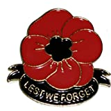 Poppy Lapel Pin Lest We Forget Badge