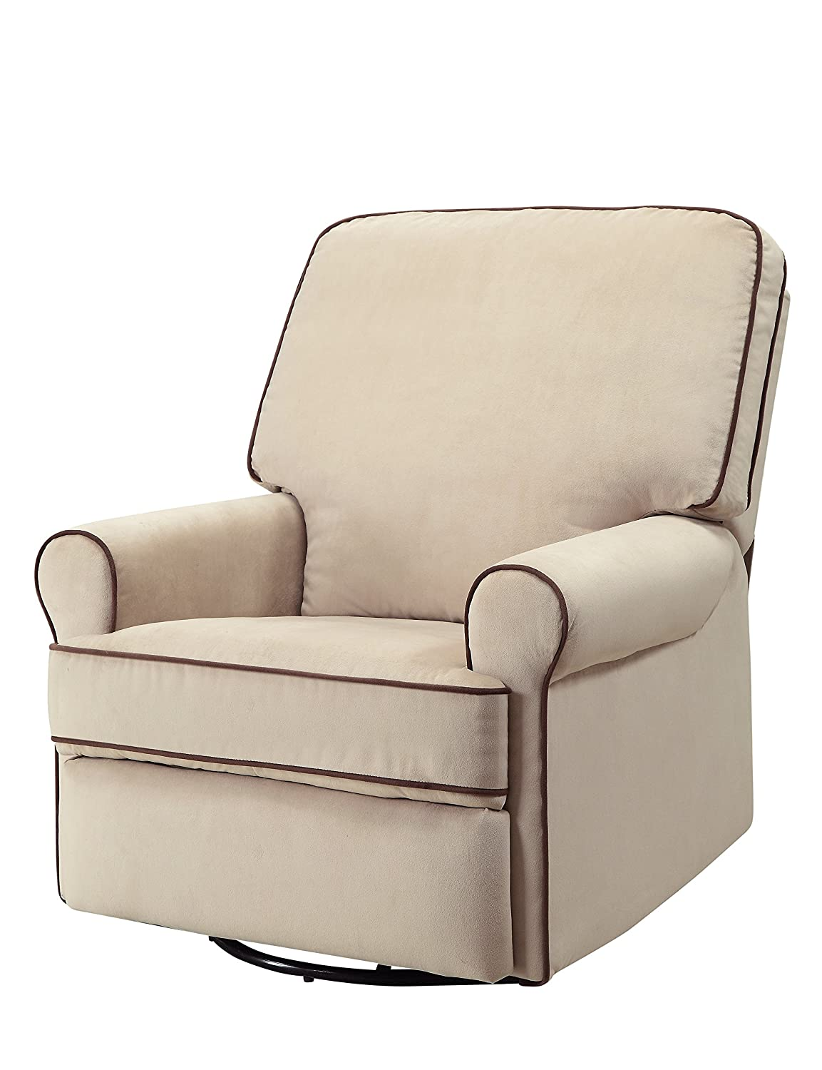 amazoncom pulaski birch hill swivel glider recliner doe with coffee piping kitchen u0026 dining
