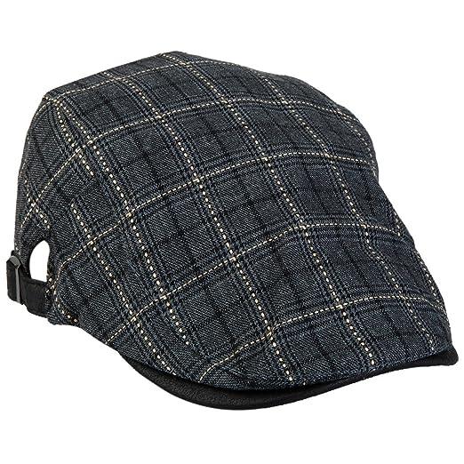 7d1283abdb241 Mens Plaid Golfing Beret Summer Flat Ivy Driving Cabbie Cap Hat