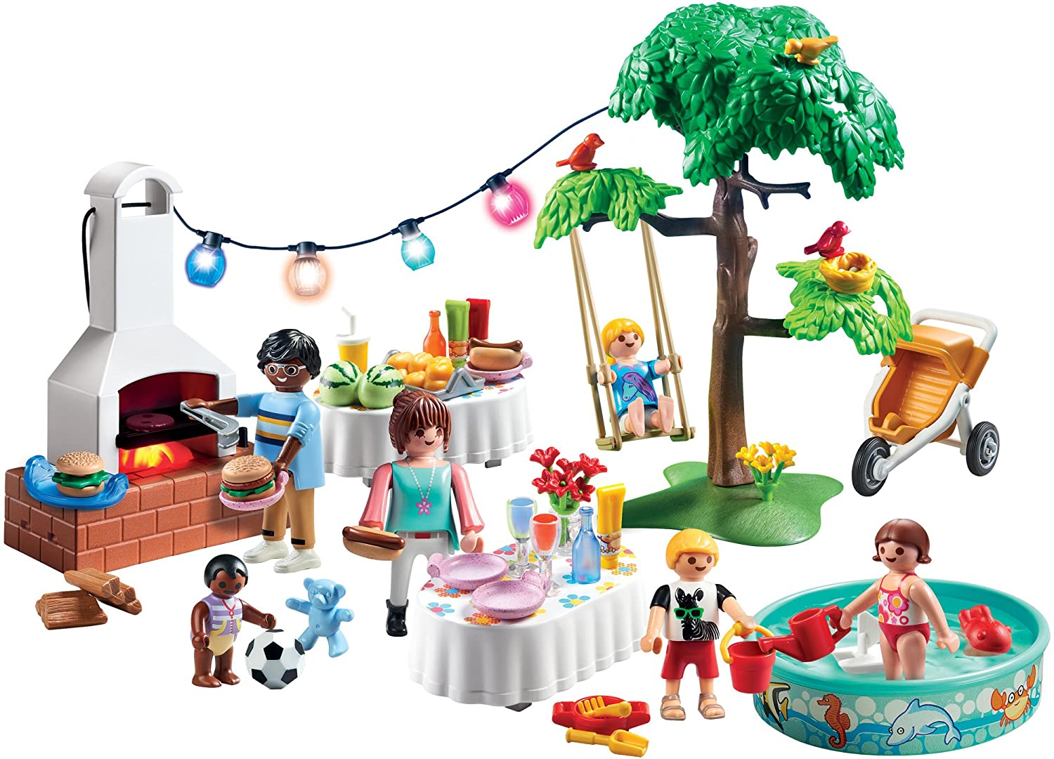 Amazon.com: PLAYMOBIL® Housewarming Party Building Set: Toys & Games