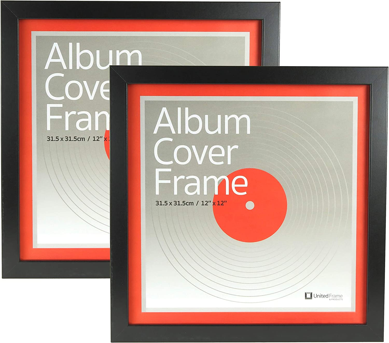 Amazon Com Best Record Album Cover Frame Set Of Two Universal Fit 12 Inch Vinyl Cover Display Quality European Craftsmanship With Eco Sourced Wood Protective Glass