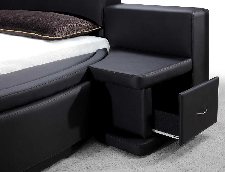 High Quality Amazon.com: Vig Furniture Owen Black Leather Round Bed With Storage: Home U0026  Kitchen
