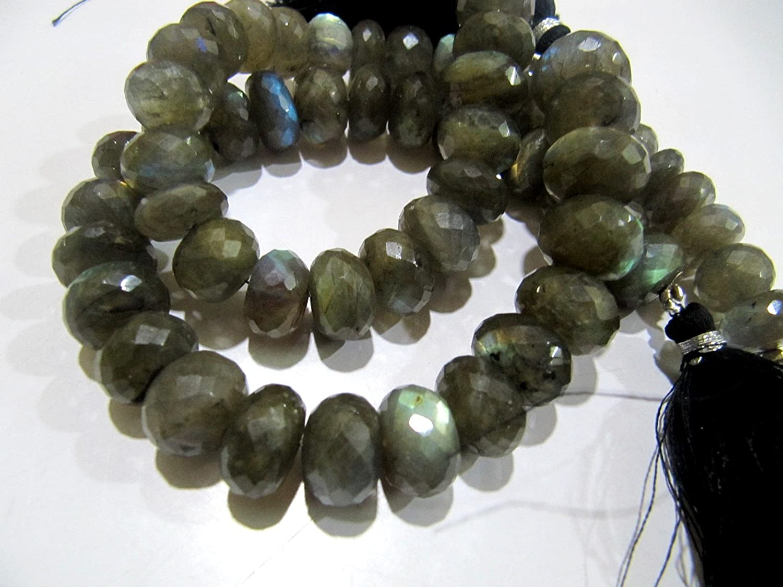 Labradorite Pumpkin Beads AB142 10 Pieces AAA Grade Bright Flashy Labradorite Carved Melon Shape Rondelle Beads Labradorite Melon Beads
