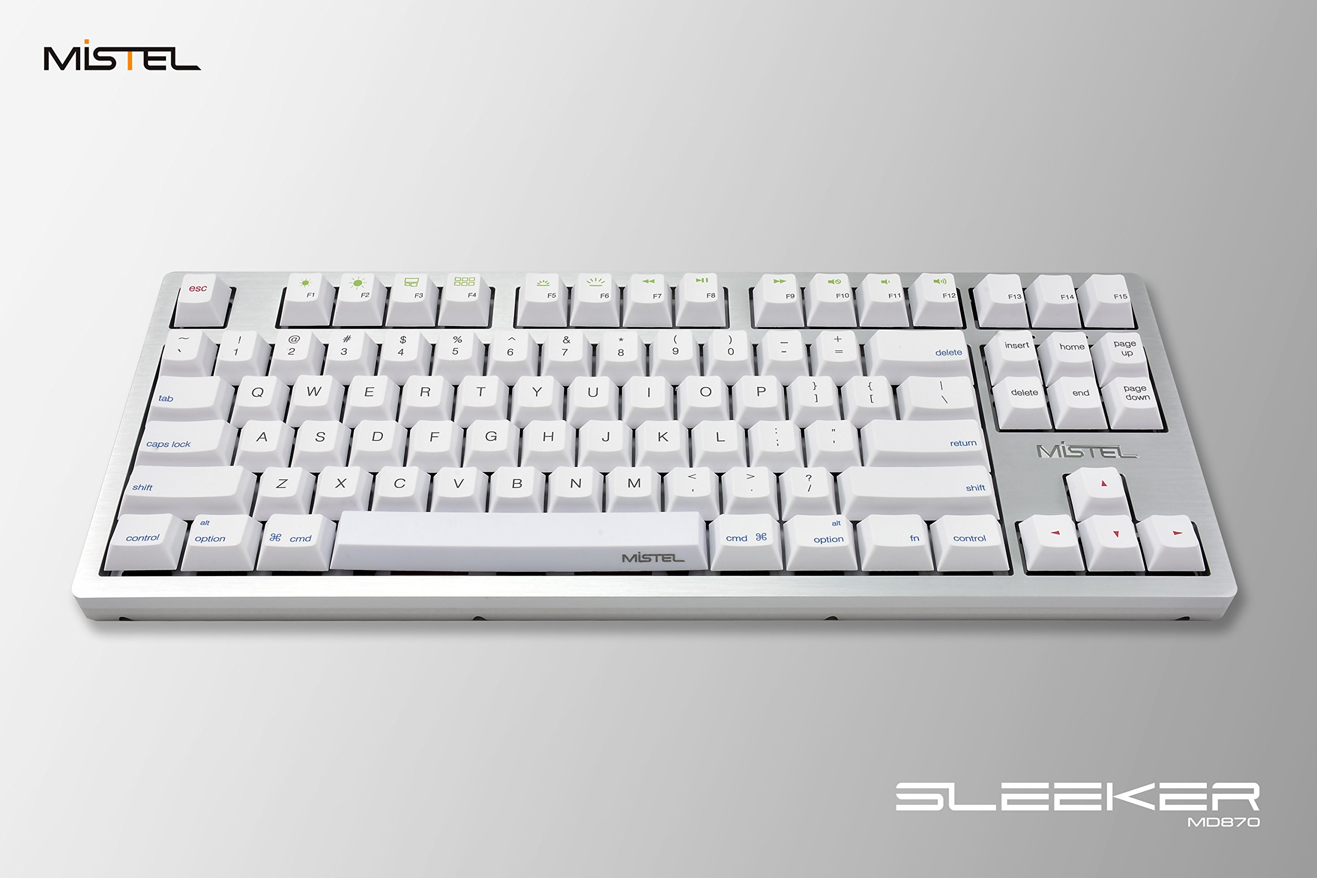Mistel Sleeker MD870 Mechanical Keyboard Chrerry MX Black Switch