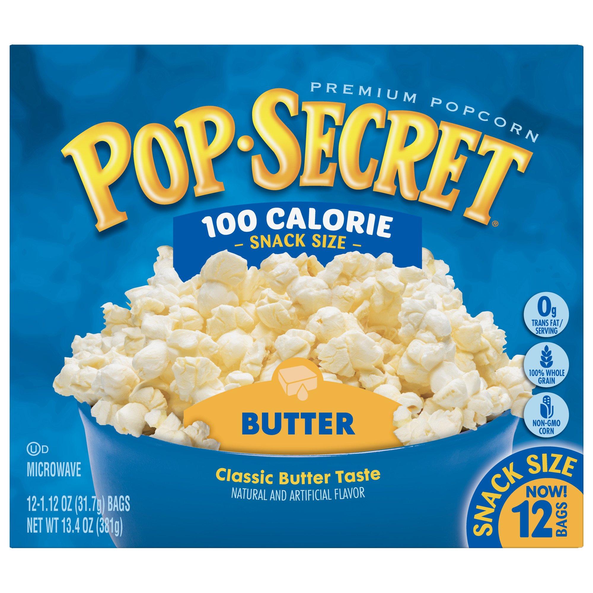 Pop Secret Popcorn, Butter 100 Calorie Microwave Bags, 12 Count Box (Pack of 4) by Pop Secret