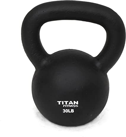 Kettlebell 70 LBS Weight Fitness Body Training Exercise Gym Cast Iron Strength