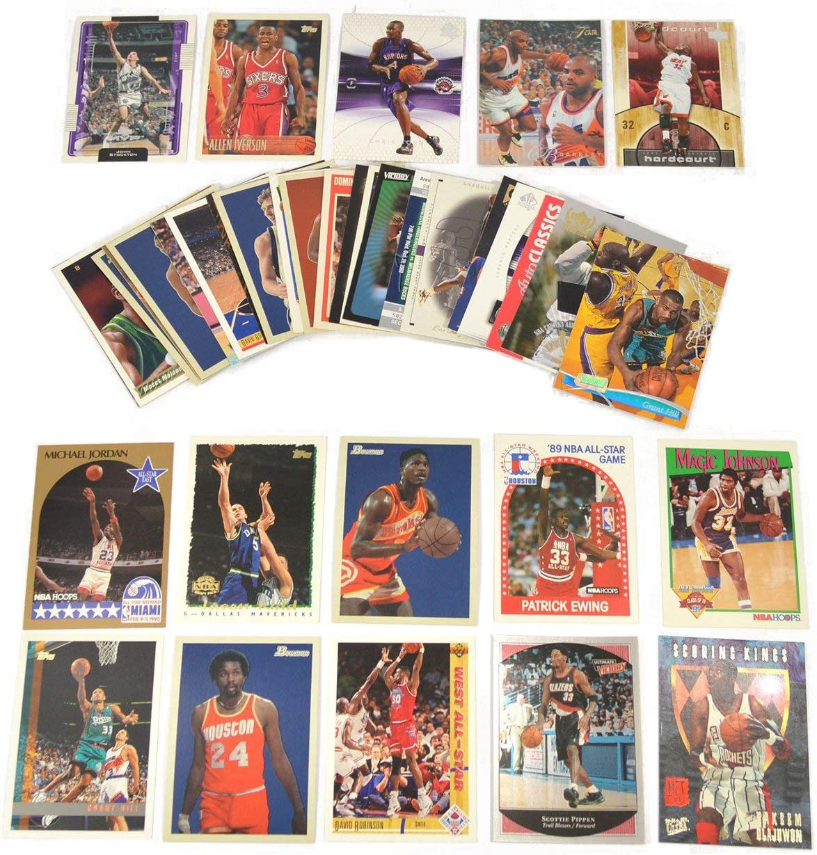 40 Basketball Hall-of-Fame & Superstar Cards Collection Including Players such as Michael Jordan, Magic Johnson, LeBron James. Ships in Protective Plastic Case Perfect for Gift Giving. : Sports & Outdoors