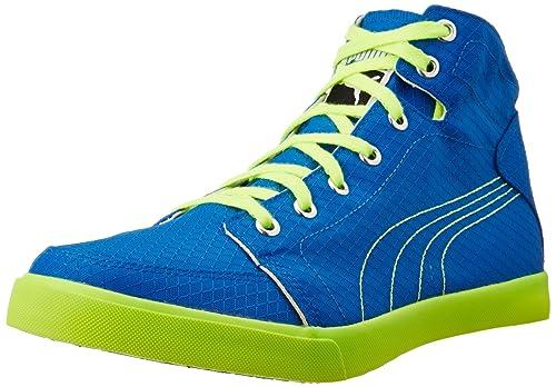 54cfb54077b7 Puma Men s Drongos Idp Royal and Safety Yellow Sneakers - 10 UK India (44.5