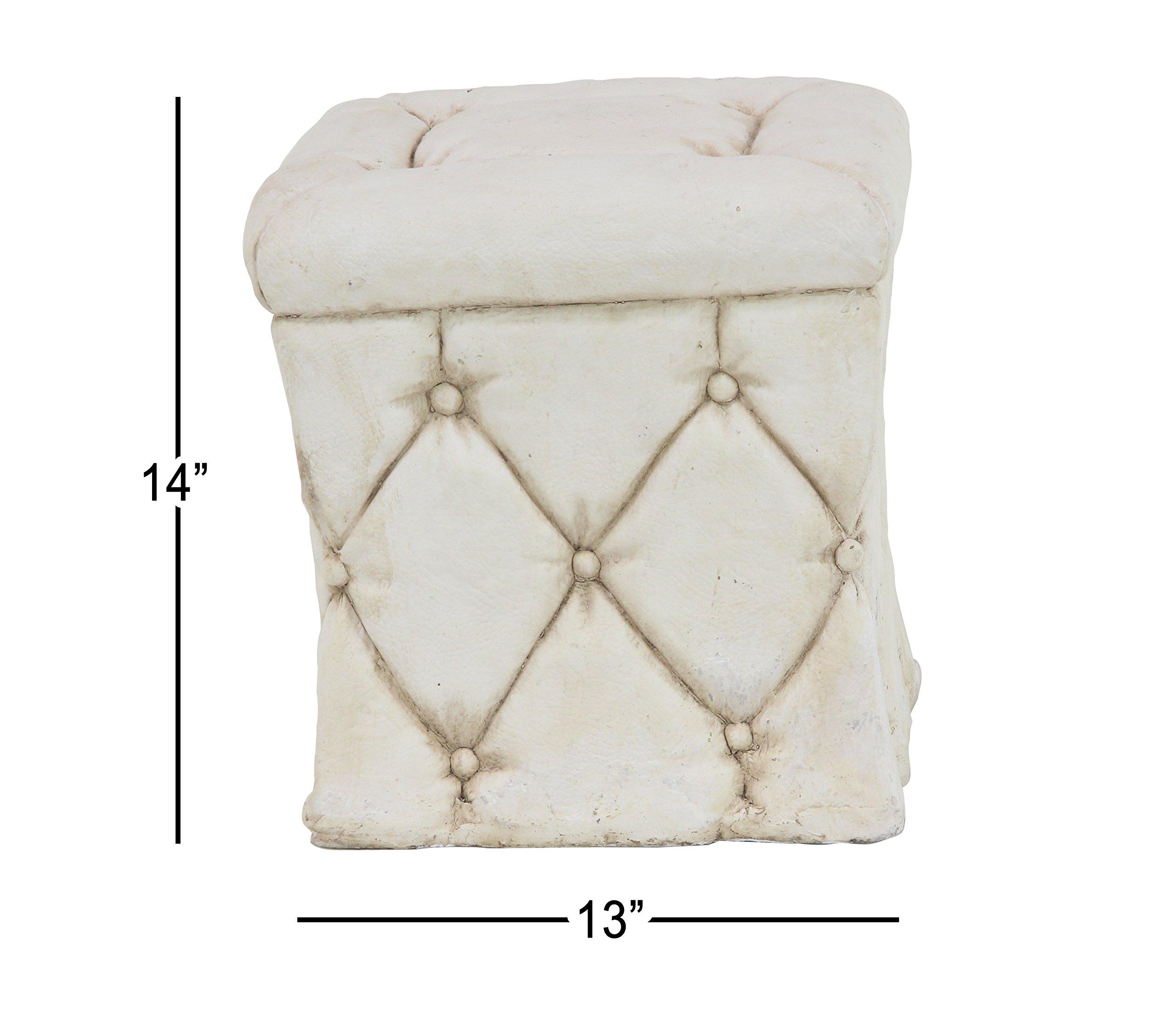 Deco 79 36839 Garden Pedestal, White by Deco 79 (Image #3)