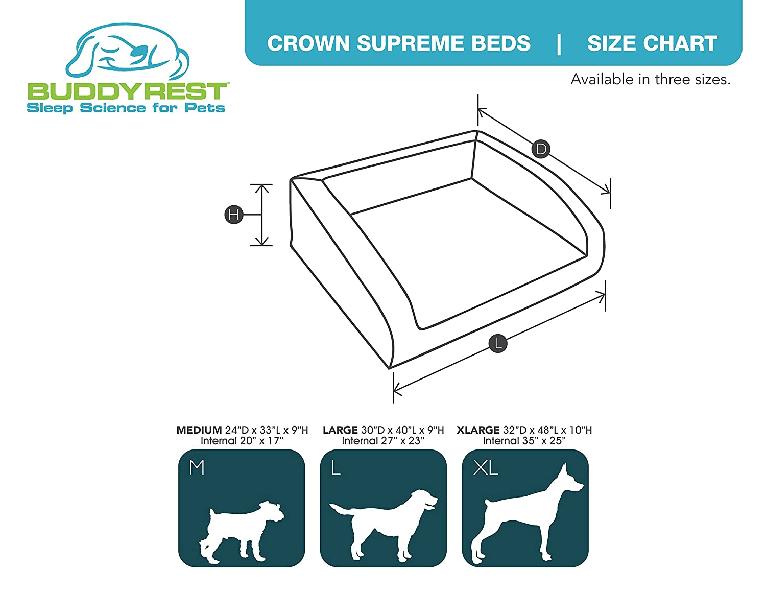 Amazon Buddyrest Crown Supreme Medium Memory Foam Dog Bed