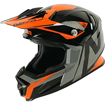 Nitro nrs-mx Advance casco de Motocross, Black Orange Gun