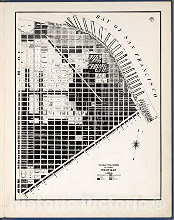 Amazon.com: Historic Map - City and County of San Francisco ... on fauquier county property map, kentucky property map, augusta county property map, tennessee property map, walt disney world property map,