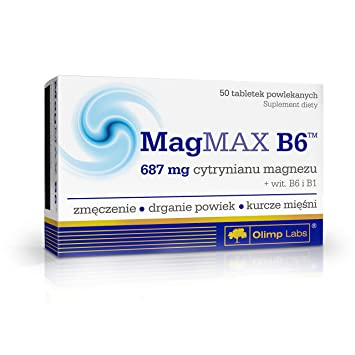 MagMAX B6 - As much as 687 mg of magnesia citrate in one tablet! -