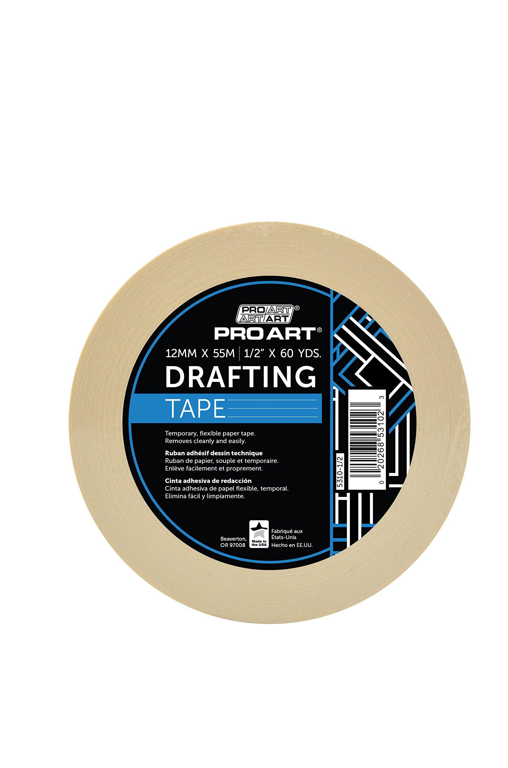 Pro Art PRO-5310-1/2 Drafting Tape, 1/2'' x 60 yd