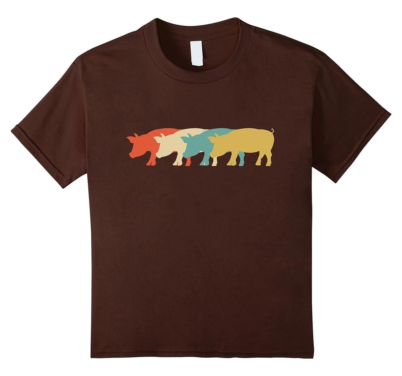 Vintage Retro Art Pig Lover Whisperer T Shirt Gift-Teehay