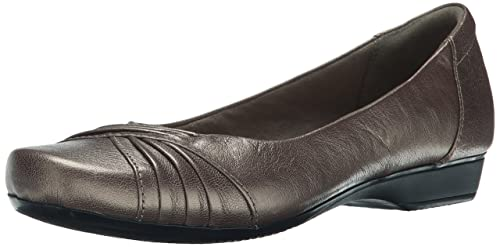 Clarks Blanche Cam- Pewter Leather flats